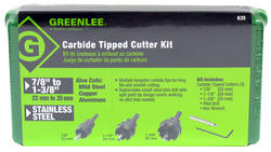 Greenlee Carbide-Tipped Hole Cutter Kit