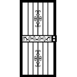 """Grisham Mariposa 36"""" x 80"""" Steel Left-Hinged Security Door"""