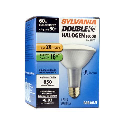 Outdoor Flood Light Bulbs Menards: Sylvania 50-Watt PAR30LN Dimmable Halogen Light Bulb At