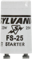 Sylvania FS-25 Fluorescent Starters for F25, F18 and T8 Preheat Lamps (2-Pack)