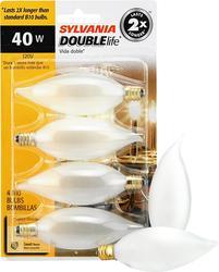 Sylvania 40-Watt B10 Dimmable Incandescent Light Bulbs (4-Pack)