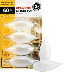 Sylvania 60-Watt B10 Dimmable Incandescent Light Bulbs (4-Pack)