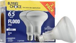 Buyers Choice 65-Watt BR30 Dimmable Incandescent Light Bulbs (2-Pack)