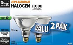 Sylvania 60-Watt PAR38 Dimmable Halogen Light Bulbs (2-Pack)