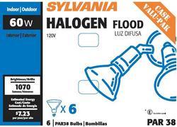 Sylvania 60-Watt PAR38 Dimmable Halogen Light Bulbs (6-Pack)