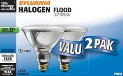 Sylvania 80-Watt PAR38 Dimmable Halogen Light Bulbs (2-Pack)