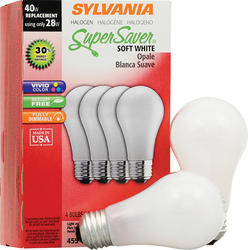 Sylvania 28-Watt A19 Dimmable Halogen Light Bulbs (4-Pack)