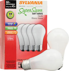 Sylvania 43-Watt A19 Dimmable Halogen Light Bulbs (4-Pack)