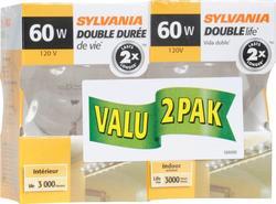 Sylvania 60-Watt G25 Double Life Clear Dimmable Incandescent Light Bulbs (2-Pack)