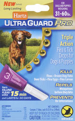 Hartz® UltraGuard Pro® Flea and Tick Treatment for Dogs and Puppies from 31 - 60 lb.