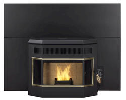 """PelPro 40.5"""" W x 30.5"""" H Bay Window Insert/Built-In Stove with Small Shroud"""