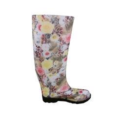 Ladies' Fashion Boots - Multi Flower