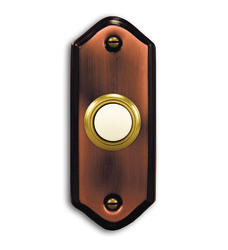 Heath/Zenith Brushed Copper Wired Door Chime Push Button