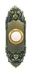 Heath/Zenith Antique Brass Wired Door Chime Push Button