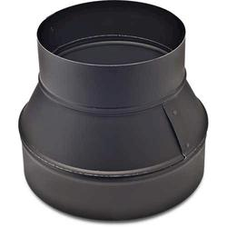 "12"" x 8"" Reducer Without Crimp Black (Each)"