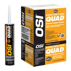 OSI QUAD VOC Color-421 Advanced Formula Outdoor Sealant - 12-pk