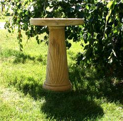 25.5'H Concrete Birdbath - Assorted