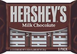HERSHEY'S® Milk Chocolate Bar - 6 pk.