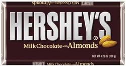 HERSHEY'S® Extra-Large Milk Chocolate Bar with Almonds - 4.25 oz.