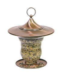 Lantern Glass Seed Feeder