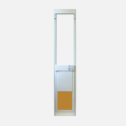 Power pet large extra tall fully automatic patio pet door for Extra wide sliding glass doors