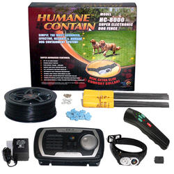 Humane Contain 40 Acre In-Ground Electronic Fence & Sonic Trainer Combo