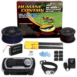 Humane Contain 40 Acre In-Ground Electronic Dog Fence Ultra Value Kit