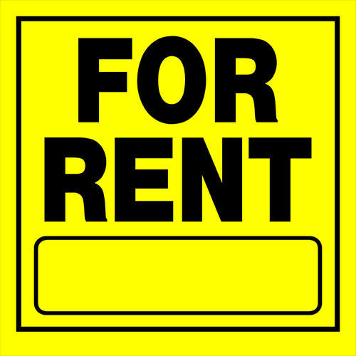 """Sign For Rent: 11 X 11"""" For Rent Sign Yellow At Menards®"""