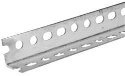 "Plated Slotted Steel Angle 1-1/4"" x 1-1/4"" x 3 ft. - 18 Gauge"