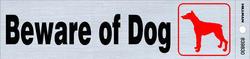 "2 x 8"" Beware Of Dog Sign"