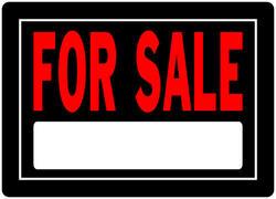 "10 x 14"" For Sale Sign Aluminum"