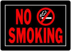 "10 x 14"" No Smoking Sign"