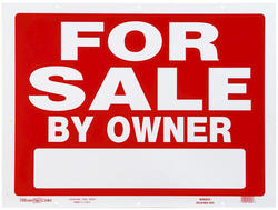 "18 x 24"" For Sale By Owner Heavy Duty Plastic Sign"