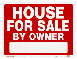 """18 x 24"""" House For Sale By Owner Heavy Duty Plastic Sign"""