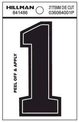 """3"""" Black Vinyl Die-Cut Numbers"""