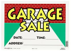 "10 x 14"" Vibrant Garage Sale Sign"