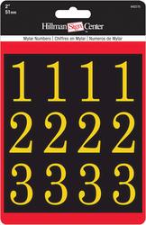 "2"" Black And Gold Mylar Number Pack"
