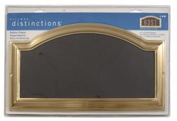 Distinctions Address Plaque Brass