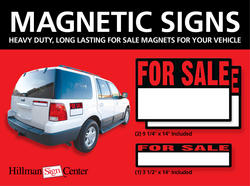 Magnetic For Sale Auto Sign