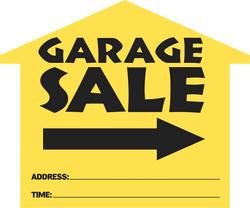 House Shape Garage Sale Sign