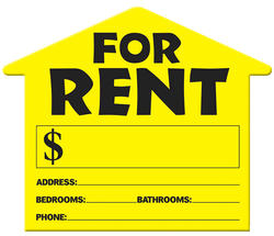 House Shape For Rent Sign