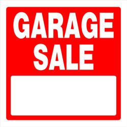 "17.5 x 18"" Garage Sale Sign"