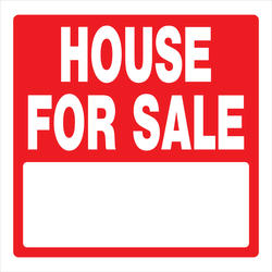 "16.75 x 16.75"" House For Sale Sign"