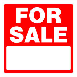 """16.75 x 16.75"""" For Sale Sign"""