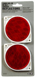 """3"""" Red Reflector, 2 Pack"""
