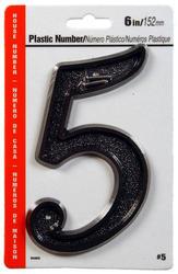 """6"""" Black Plastic Numbers"""