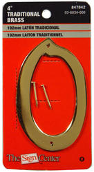 """4"""" Traditional Solid Brass House Numbers"""