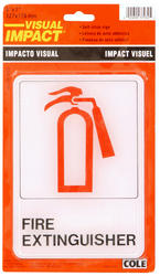 """5 x 7"""" Fire Extinguisher High-Visibility Sign"""