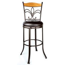 Designer's Image™ Marseille Bar Height Swiveling Metal Stool