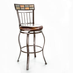 Designer's Image™ Grayson Bar Height Swiveling Metal Stool